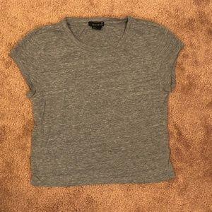 Forever 21 Heather Gray Basic Crop Top